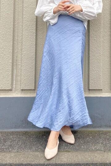 《EXCLUSIVE LINE》ワッシャーサテンナロースカート