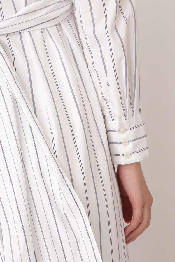 イブストライプシャツワンピース
