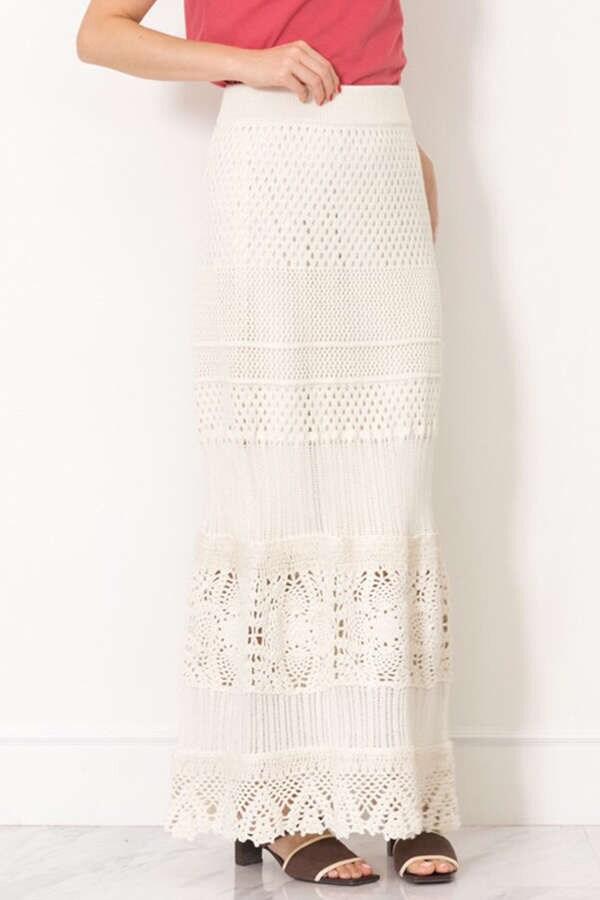キャシークロッシェニットスカート