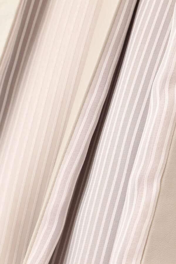 ブロックフェイクレザースカート