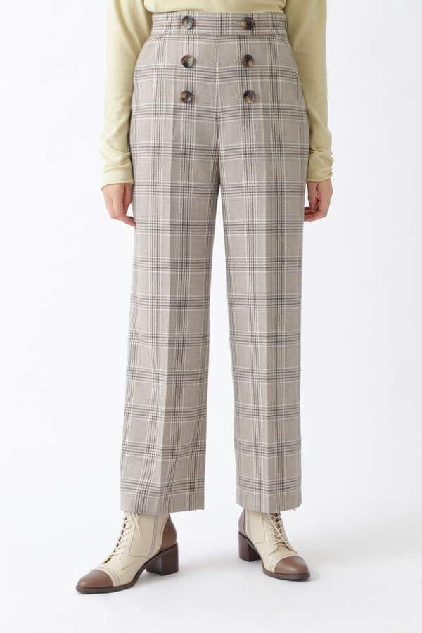 ジャニスチェック柄パンツ