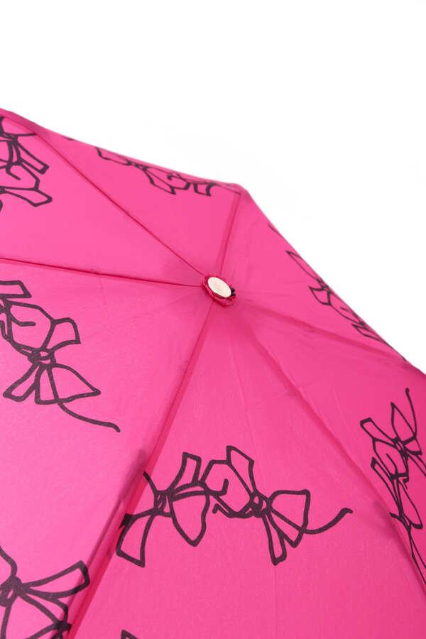 【WEB限定・軽量】リボンプリント折り畳み傘