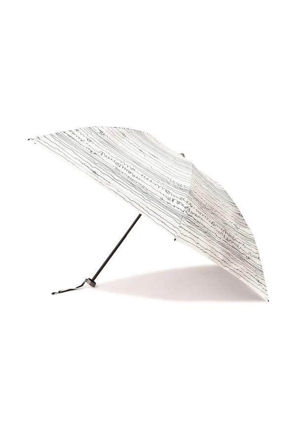 【WEB限定・UV機能付き・晴雨兼用】ボーダープリントミニ傘