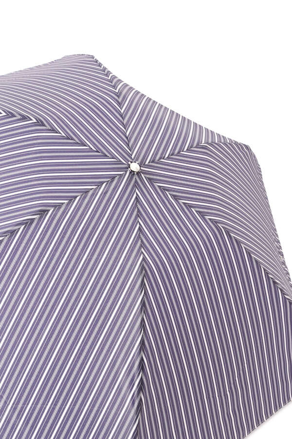 【WEB限定・UV機能付き】軽量先染めストライプ折り畳み傘