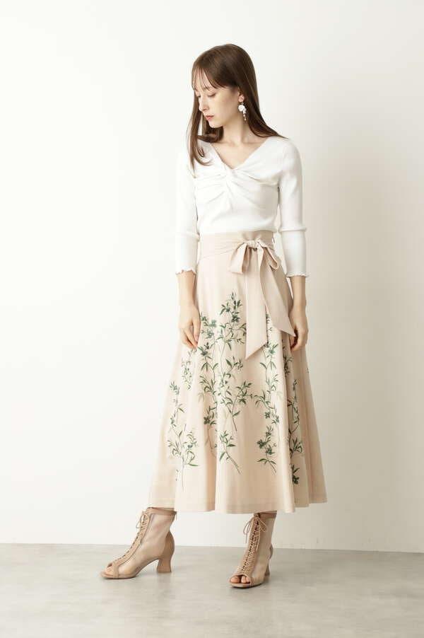 【美人百花4月号掲載】クレールフレアスカート