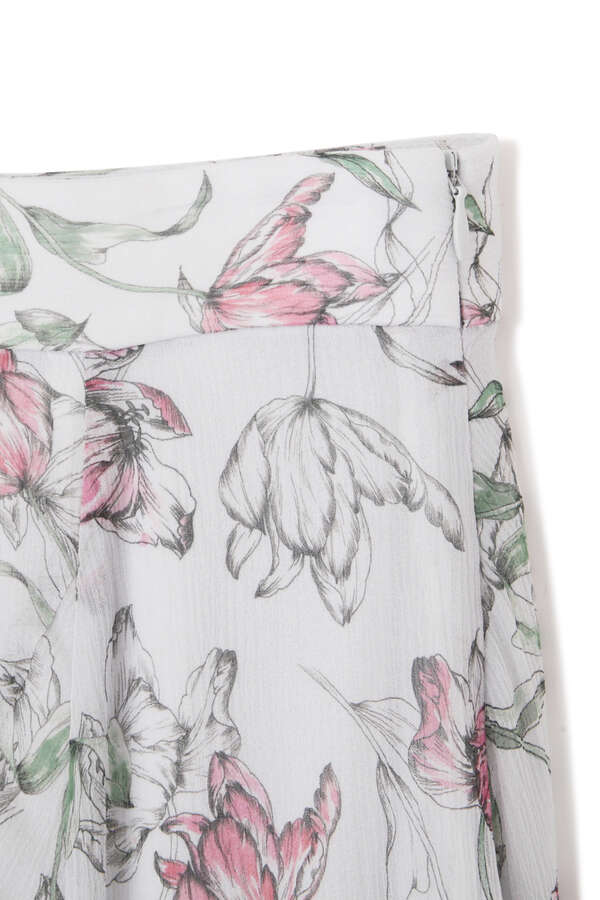 【WEB限定 サイズ:4 展開】エドナシルクフラワースカート