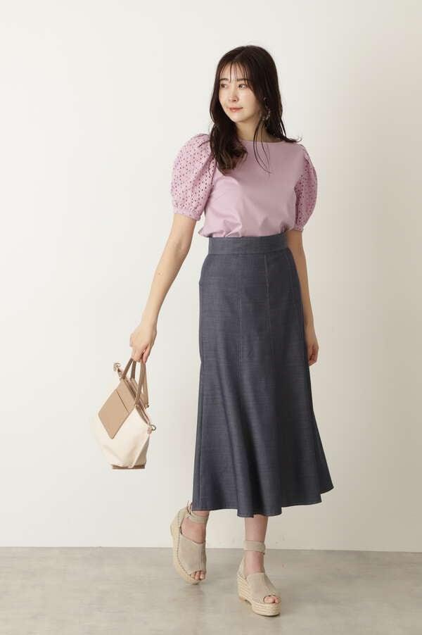 【WEB限定 サイズ:4 展開・美人百花6月号掲載】リリアンスカート