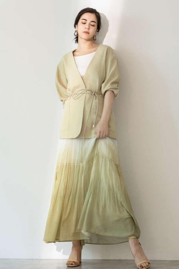 《Exclusive Line》グラデーションマキシスカート