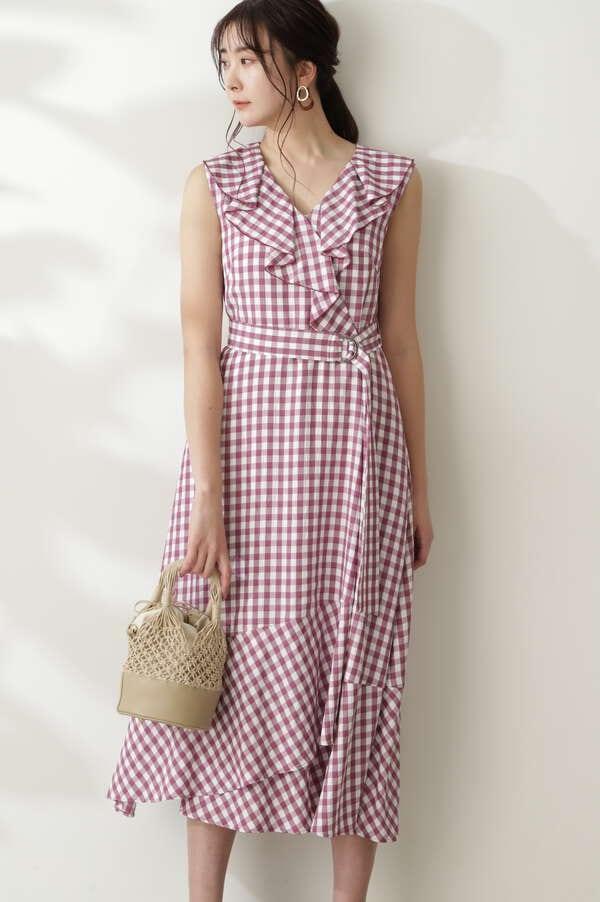 【美人百花6月号掲載】パティチェックワンピース