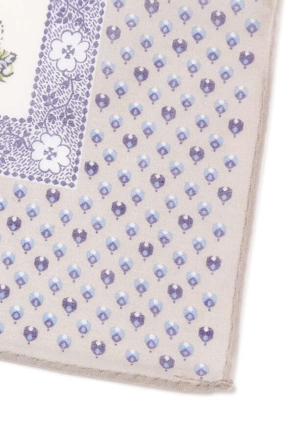 【WEB限定】コットンプリントスカーフ