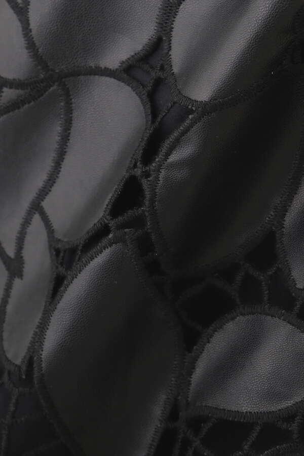 【先行予約 8月中旬-下旬入荷予定】ファンナフェイクレザースカート