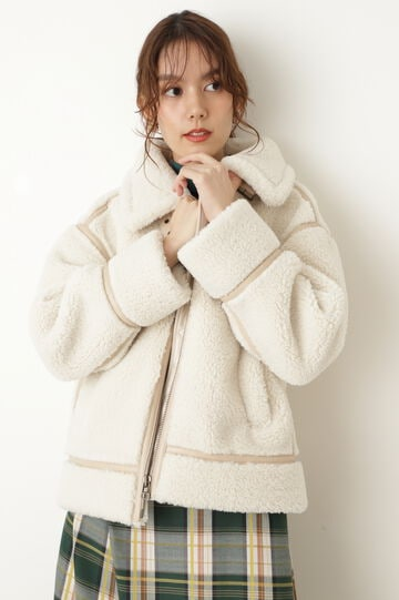 ドロシーフェイクムートンジャケットコート