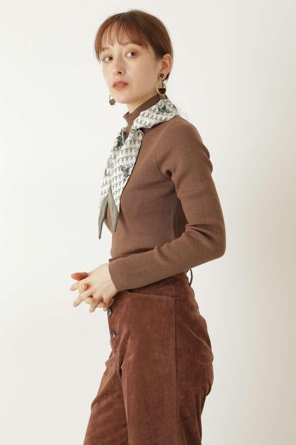 レナスカーフニット