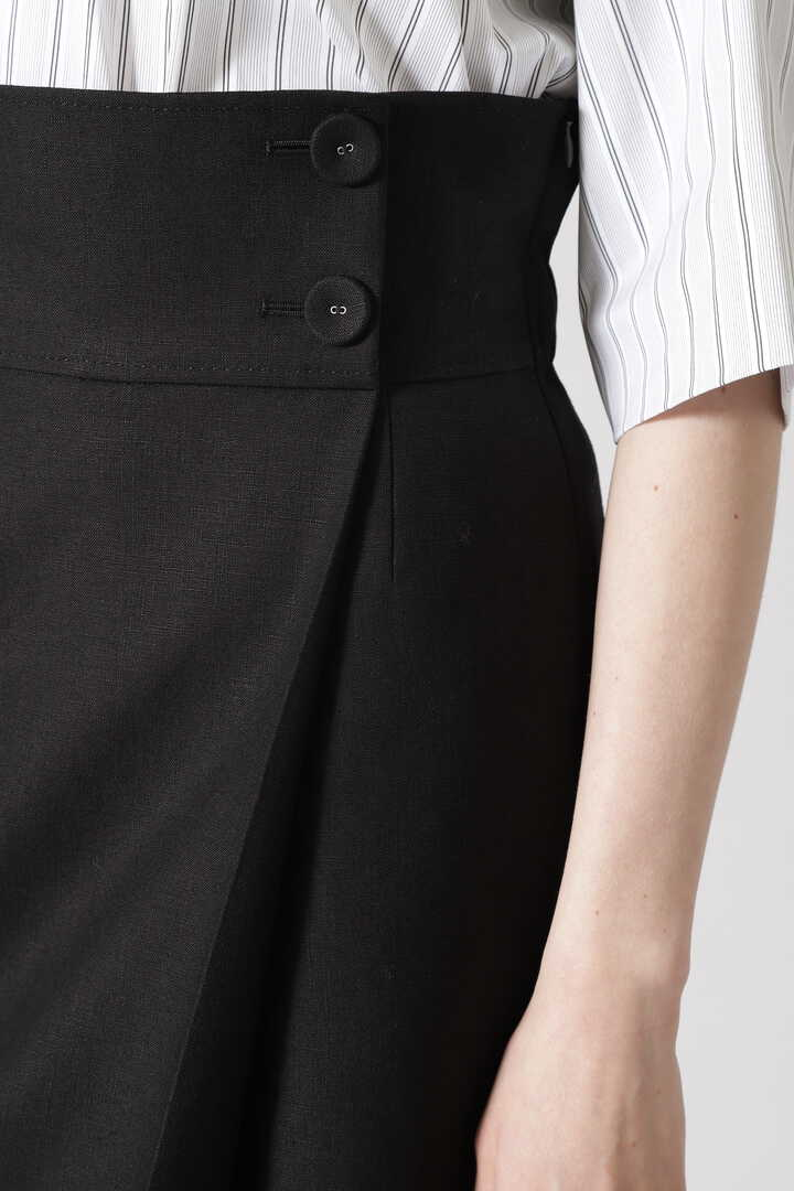 バックジョーゼット麻スカート
