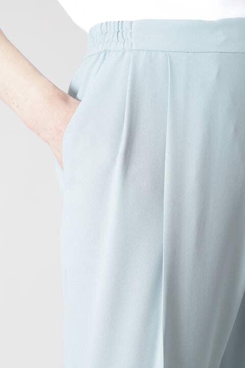 【WEB限定 34サイズ展開】ライトジョーゼットテーパードパンツ