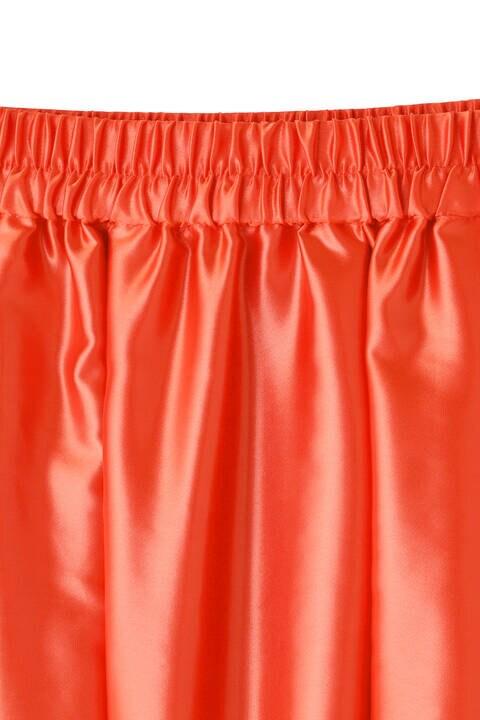 「eclat4月号掲載商品」クリアサテンスカート