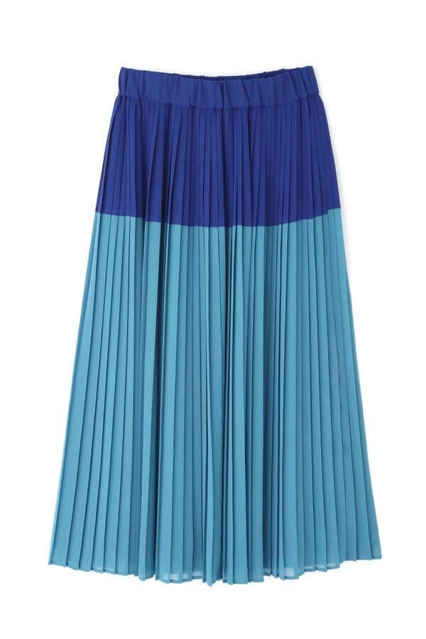 【先行予約 11月下旬-12上旬入荷予定】2TONEプリーツスカート