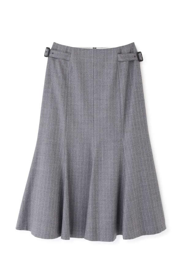 【先行予約 11月上旬-中旬入荷予定】マイクロウォッチストライプスカート