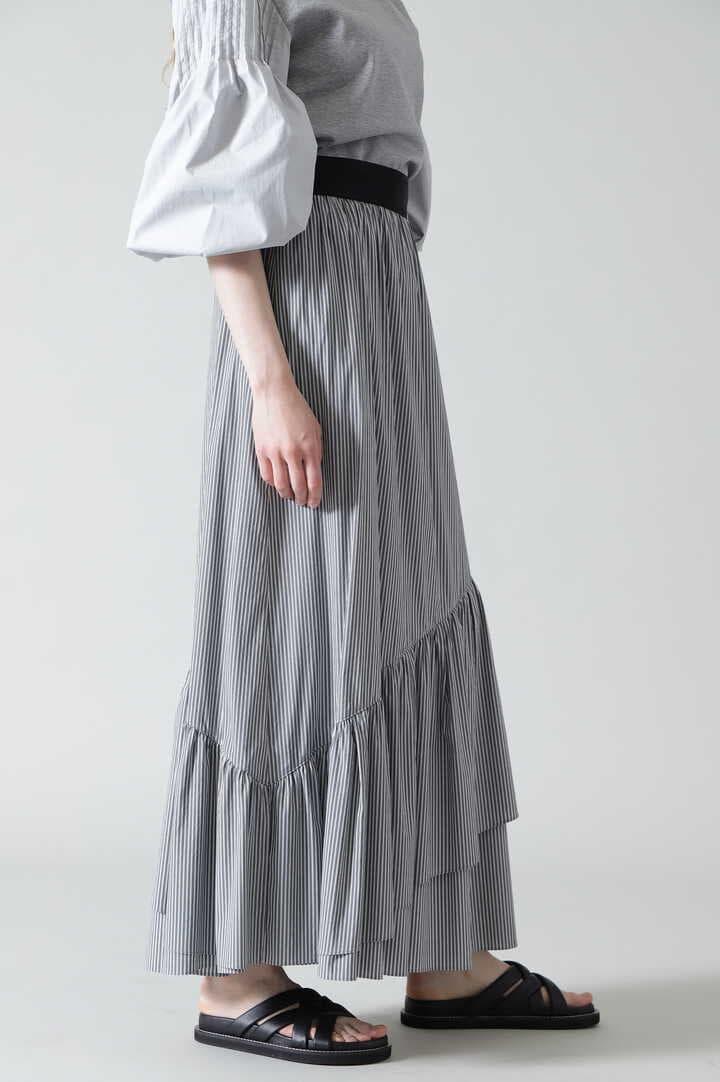 ソフトストライプブロードスカート