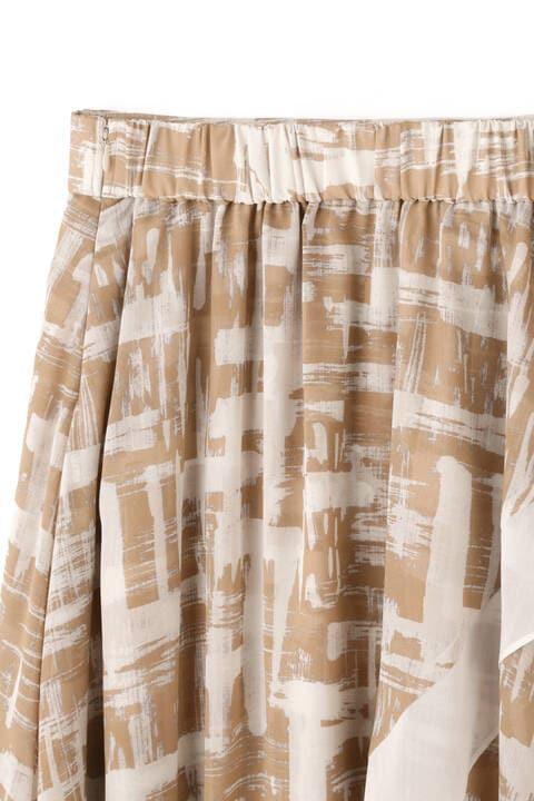 デジタルプレイドプリントスカート