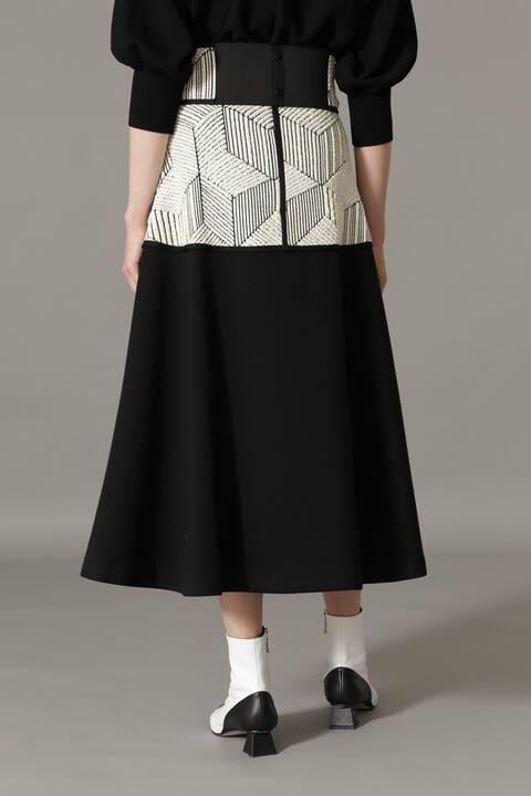 スクウェアアートツイードスカート