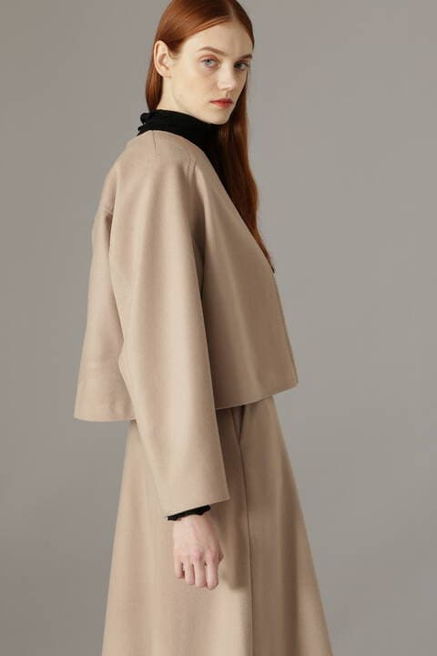 ソフトメルトンノーカラージャケット