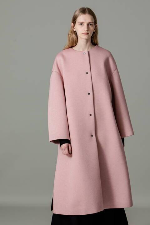 【ピンクのみ先行予約 11月上旬-中旬入荷予定】ウールミックスボンディングコート