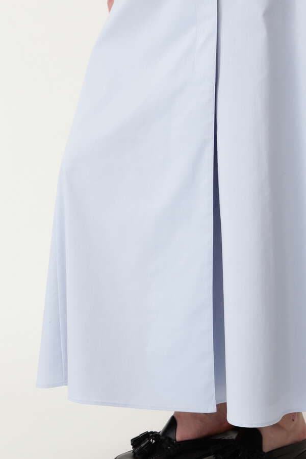 ストレッチコットンラップフレアースカート