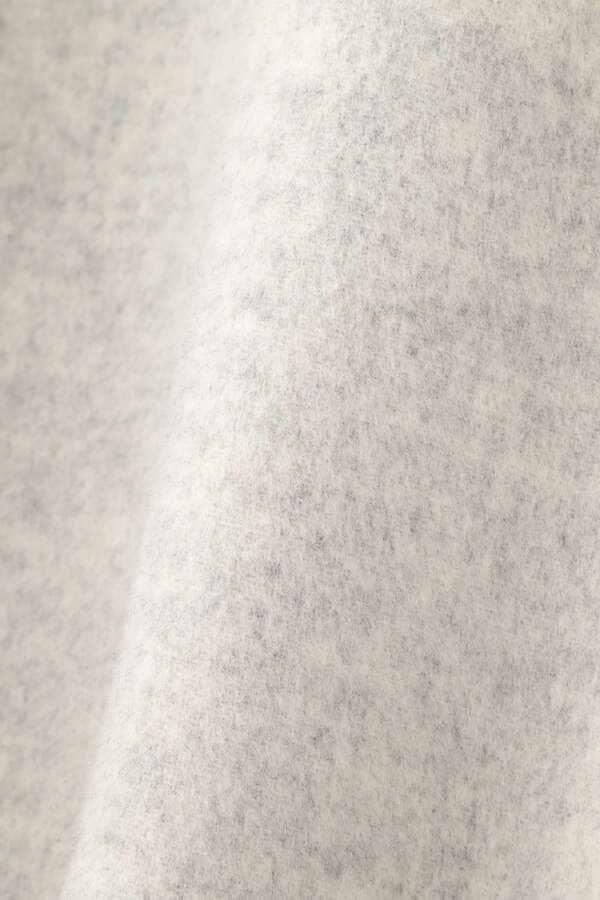 《LE PHIL》ストール付きソフトウールリバーノーカラーコート