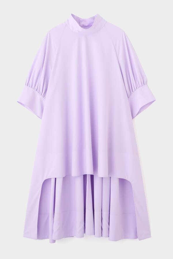 シルキーブロードロングシャツ