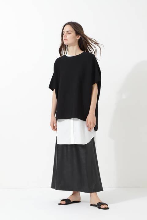 《LE PHIL》ウォッシャブルフェイクレザースカート