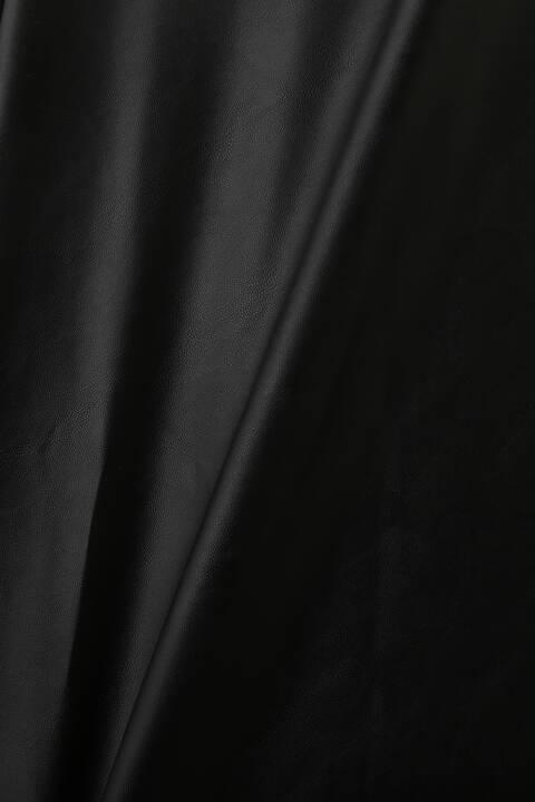 《LE PHIL》ウォッシャブルフェイクレザーサロペット