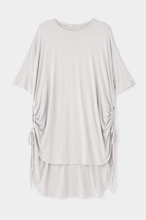 サイドギャザージャージーシャツ