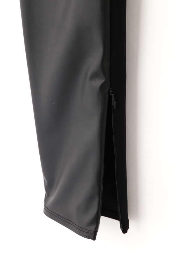 フェイクレザーコンビレギンスパンツ