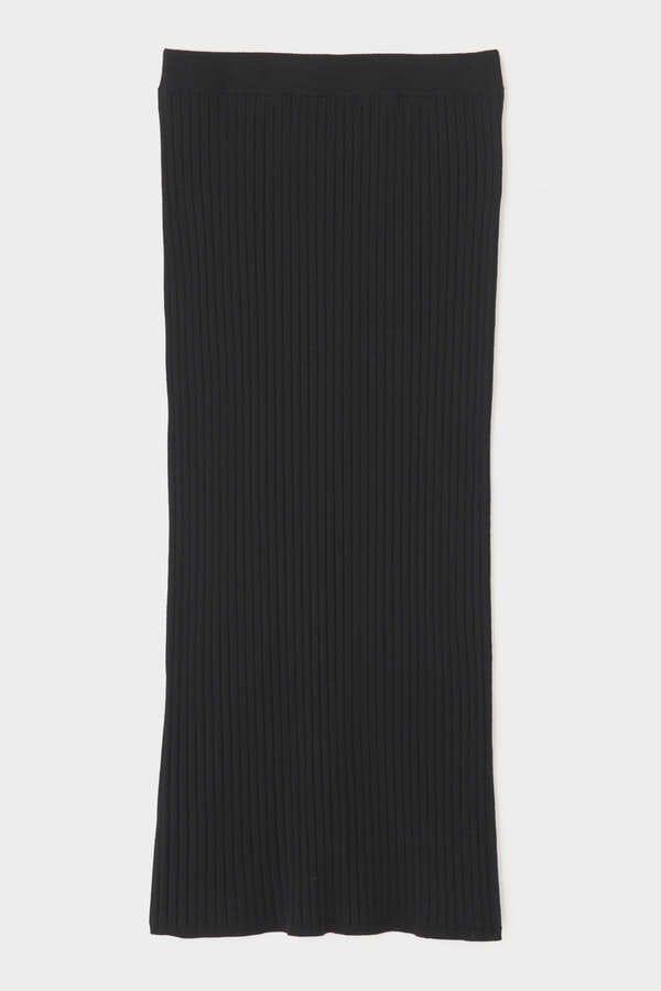ウールワイドリブスカート