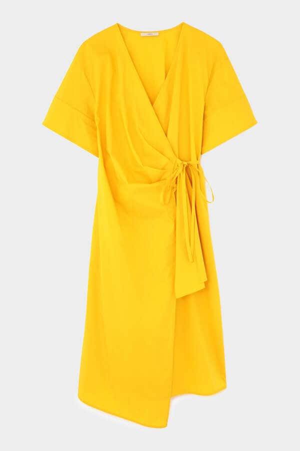 《LE PHIL》カシュクールシャツドレス