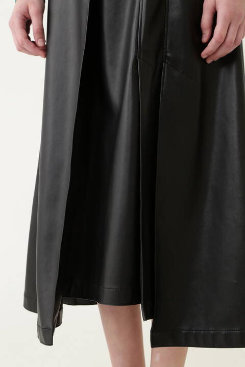 《LE PHIL》ハイブリットレザースカート