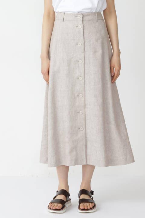 ドビーリネンストレッチスカート