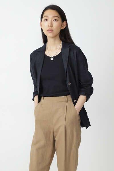 リネンテーラーシャツ