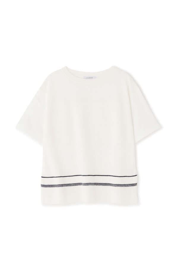 ニットドッキングTシャツ