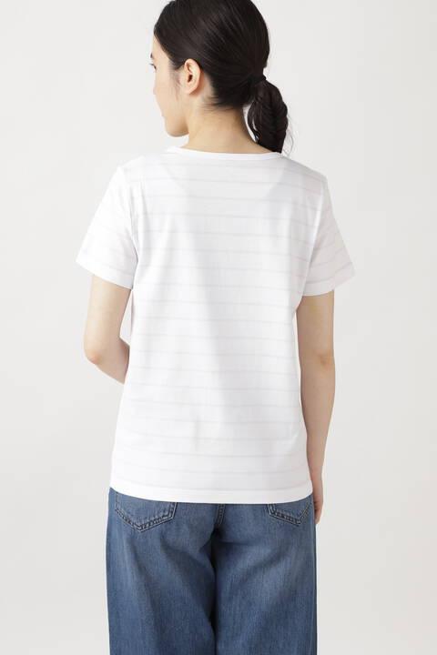 コットン半袖ボーダーTシャツ