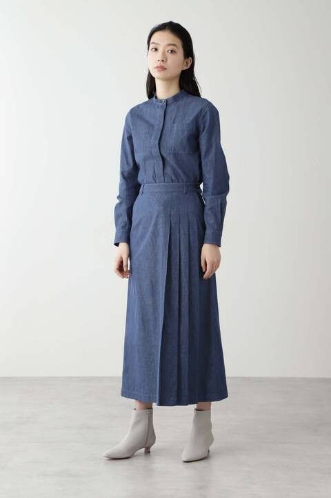 ≪Japan Couture≫反応染めデニムブラウス