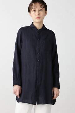 【WEB限定 NATIC】ラウンドカラーチュニックシャツ
