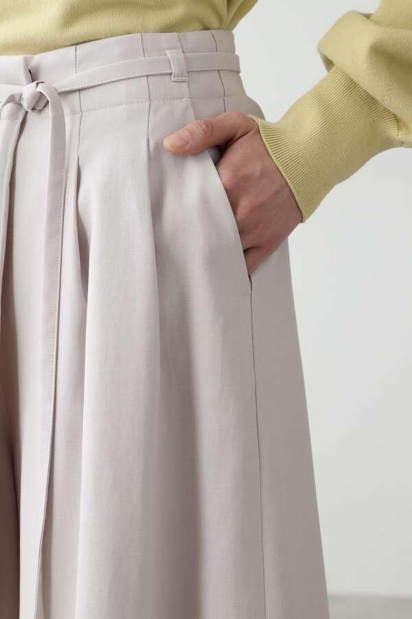 セルロース綿ドビーOXバイオフレアーパンツ