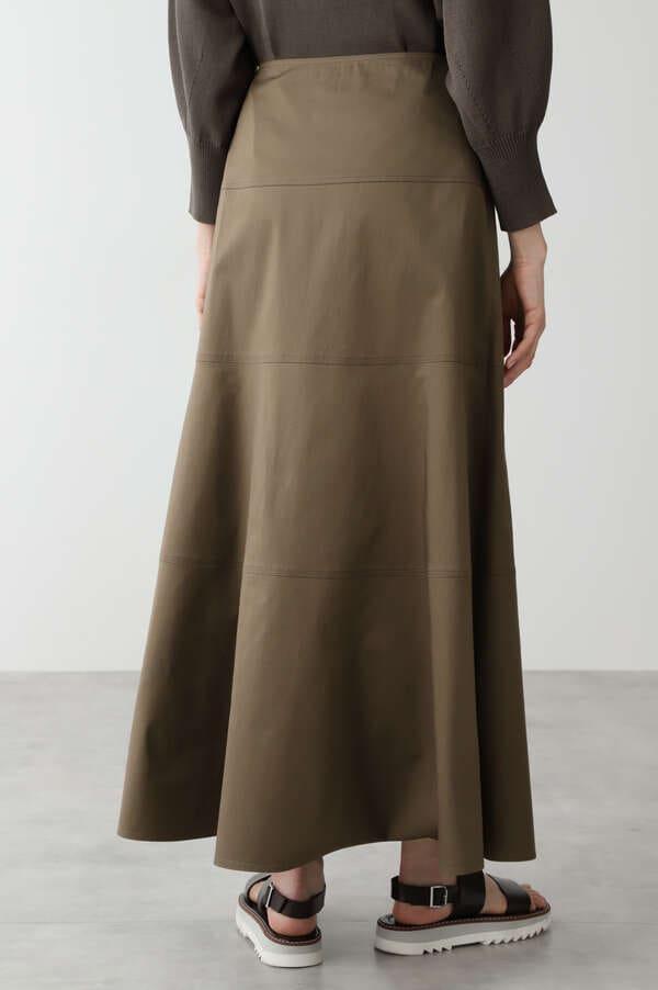 ≪arrive 5e≫綿麻スラブサテンスカート