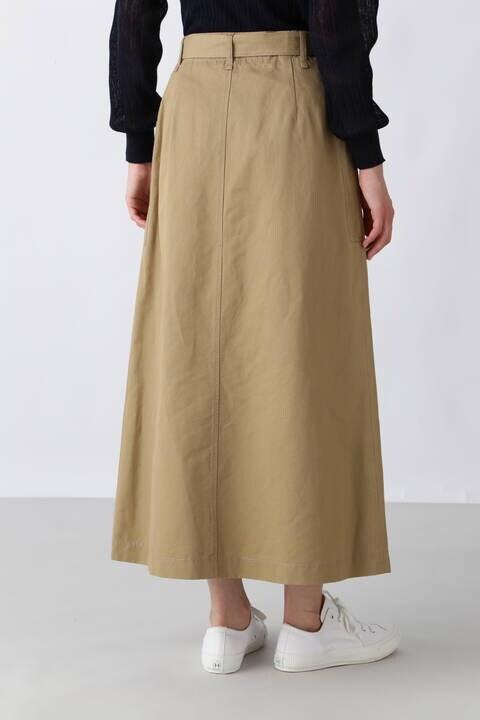 C/麻カルゼバイオワッシャースカート