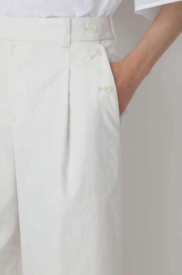 クールマックス綿麻オックスパンツ