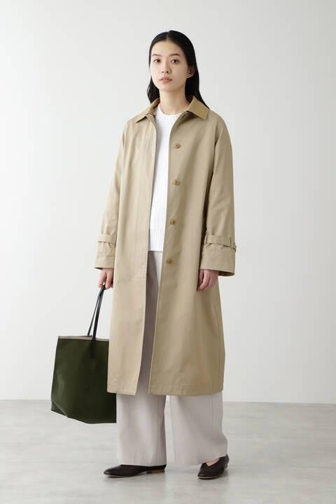 ノーカラーツイルコート