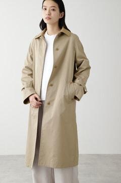 【先行予約 2月上旬-中旬 入荷予定】ノーカラーツイルコート