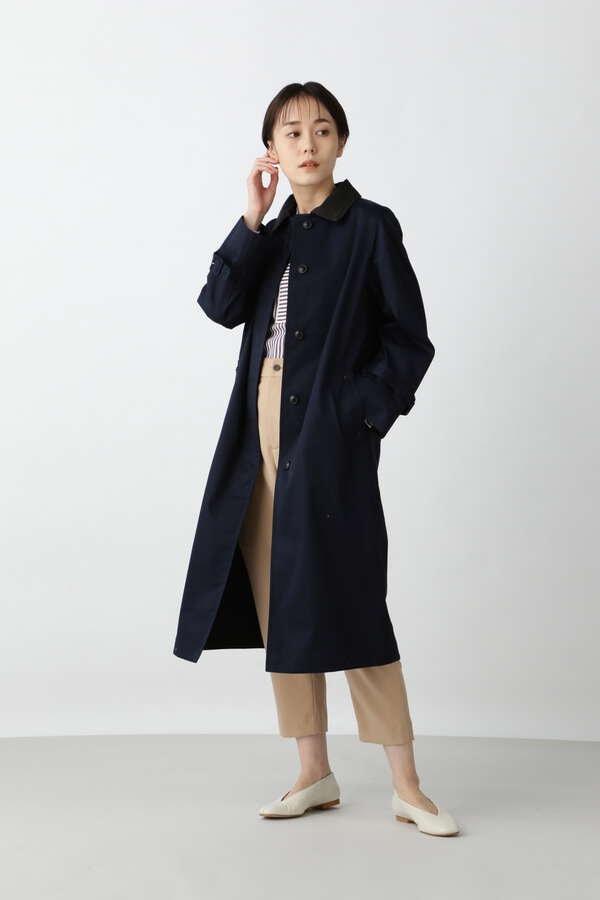 【TVドラマ コントが始まる 第3話着用】ノーカラーツイルコート